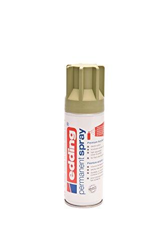 edding 5200 Permanent-Spray - kahki matt - 200 ml - Acryllack zum Lackieren und Dekorieren von Glas, Metall, Holz, Keramik, lackierb. Kunststoff, Leinwand, u. v. m. - Sprühfarbe