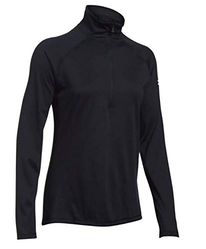 Under Armour - Jersey de manga larga Tech Twist con media cremallera para mujer - negro - Large