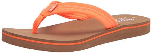 Skechers BOBS Women's Bobs Sunset Flip-Flop, neon Orange, 5 M US