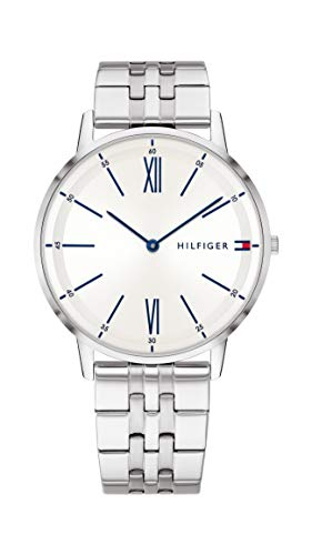 Tommy Hilfiger Herren Analog Quarz Uhr mit Edelstahl Armband 1791511
