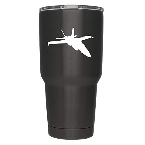 Vincit Veritas Jet Fighter   2-Pack   3-Inch   (Decal ONLY Cup NOT Included) Pilot Gifts White Vinyl Decal Sticker Aeronautical Aviator   Yeti RTIC Orca Ozark Trail Tumbler Decal   YD029-W