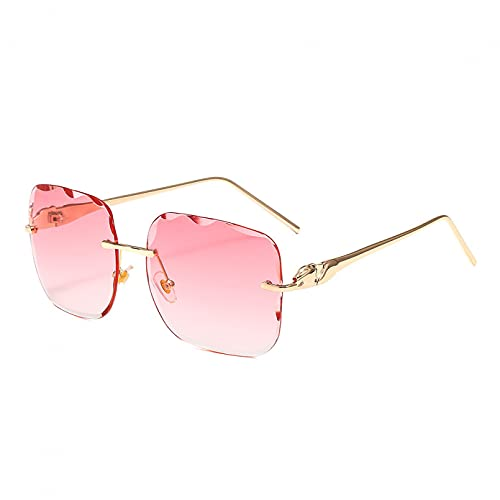 LUOXUEFEI Gafas De Sol Gafas De Sol Sin Montura De Gran Tamaño Para Mujer Y Hombre, Gafas De Sol Cuadradas, Gafas De Conducción Sin Marco
