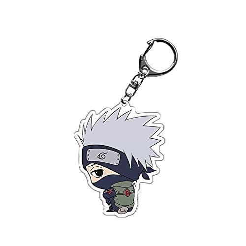 yitao Llavero Dibujos Animados Anime Narutos Llavero Acrílico Uchiha Sasuke Doble Cara Transparente Llavero Anillo Accesorios Joyería Para Fans Regalos