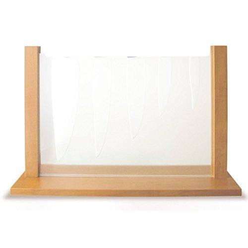 AdHoc Portacoltelli CeraStar, in legno di pero e plexiglas, per 5 coltelli in ceramica (MB04)