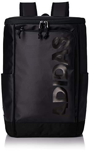 [アディダス] リュックサック 23L PCポケット付き ボックス型 大型 B4収納 ブラック×ブラック