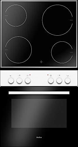 Amica EHC 933 021 W Einbauherd-Set mit Glaskeramik-Kochfeld, SCHOTT CERAN® - Weiß
