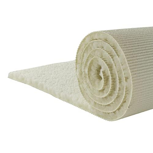 Yogabox Schurwollmatte KHF Natur 1300gr, L: 200 cm/B: 100 cm/H: 1.5 cm