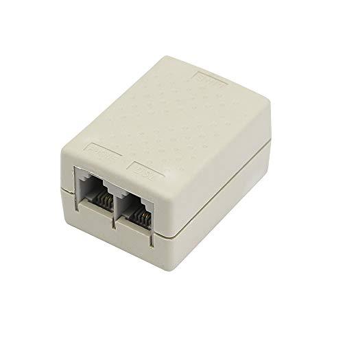 SinLoon in-line DSL Filter Splitter Thundering Protector RJ11 6P2C Female to 2 Female Telephone Modem ADSL Splitter Filter for Phone Line (ADSL)