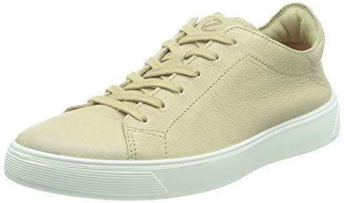 ECCO Herren Street Tray Sneaker niedrige Turnschuhe, Beige, 44 EU