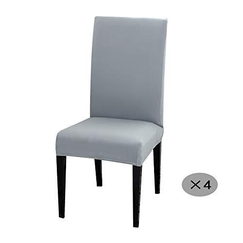 Y & J 4 Stück Elastische Moderne Stuhlbezug - Verschachtelte Schutzhülle Gelten Familie Hochzeit Bankett Party, Weicher und Glatter Elastischer Stuhlbezug (Allgemeine Größe,4 Stück)