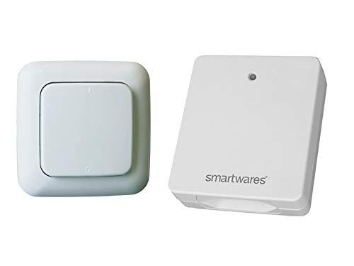 Funk Schalter Set - Funk-Wandschalter + Funk-Steckdose für drahtlose Schaltung von Leuchten oder Geräten