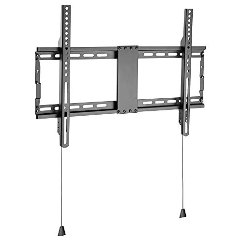 RICOO F7064 Supporto TV parete 37-80' pollici (94-204cm) Staffa televisore fisso Porta televisione ultra-slim universale VESA 300x200-600x400 Nero