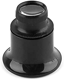 YASE-king 20X Jeweler Watch Magnifier Tool Monocular Magnifying Glass Loupe Lens Black