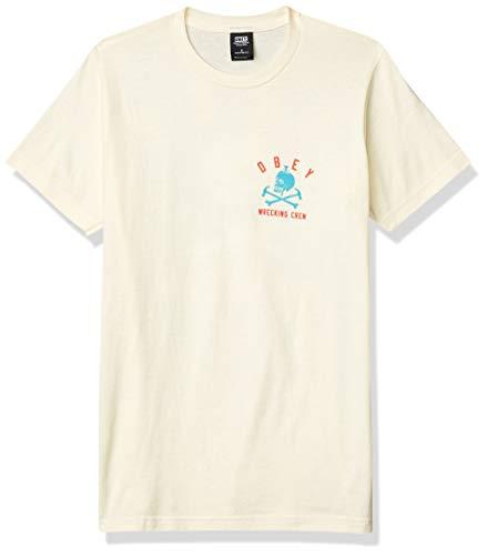 Obey Herren Wrecking Crew Tee T-Shirt, Natur, Klein