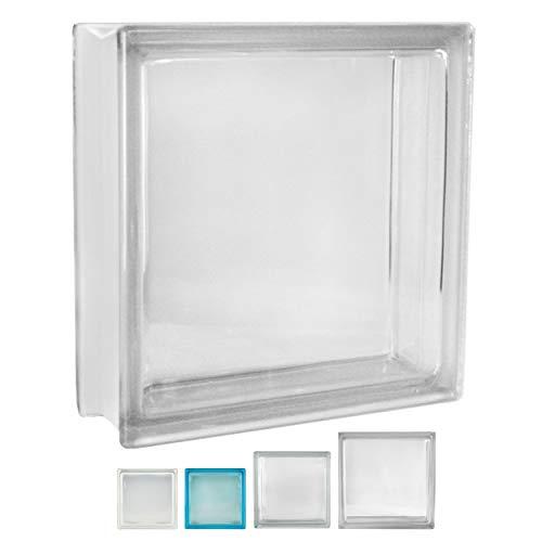 Fuchs Design 2 Stück Glassteine Vollsicht Klar glänzend 30x30x10 cm