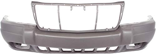 Garage-Pro Front Bumper Cover for JEEP GRAND CHEROKEE 1999-2003 Textured with Fog Light Holes Laredo/Sport Models