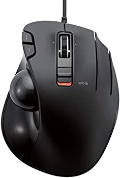 ELECOM Wired Thumb-Operated Trackball Mouse 5-Button Function with Smooth Tracking Precision Optical Gaming Sensor  M-XT2URBK