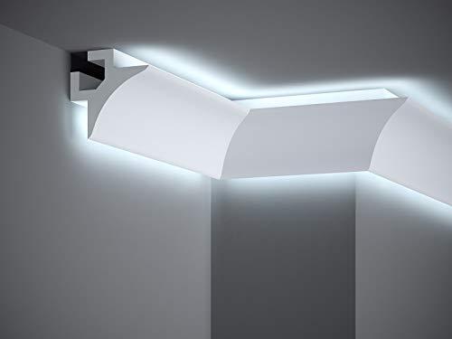Mardom Decor I QL002 - LightGuard® Stuckleiste 2.0 I Red Dot Award prämierte Decken Lichtleiste für indirekte LED Beleuchtung I benötigt kein Alu-Reflektionsband