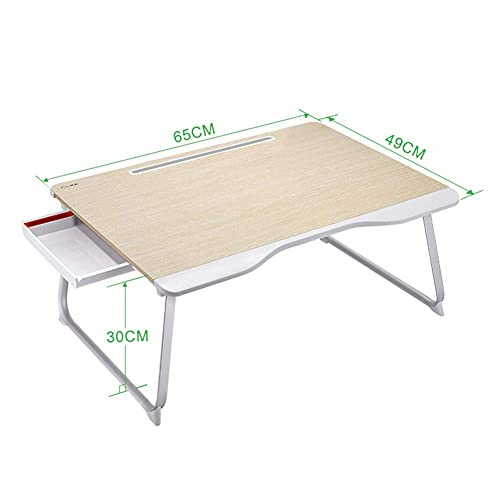 FGDSA Bed Tray Table Folding Laptop Desk Couch Table with Drawer for Writing, Study, Eating Storage, Reading Stand