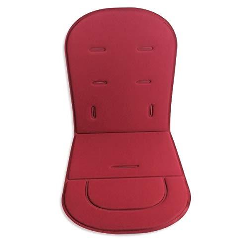 Kinderwagen Kissen Liner Mat Kinderwagen Pad Autositz Matte Universal Cover Protector atmungsaktiv weich (tiefrot)