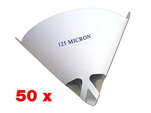 STC Lacksiebe 125 µm extrafein für Wasserlacke Farbsiebe Einweg Lackfilter Papierfilter Verschiedene Mengen (50 Stück)