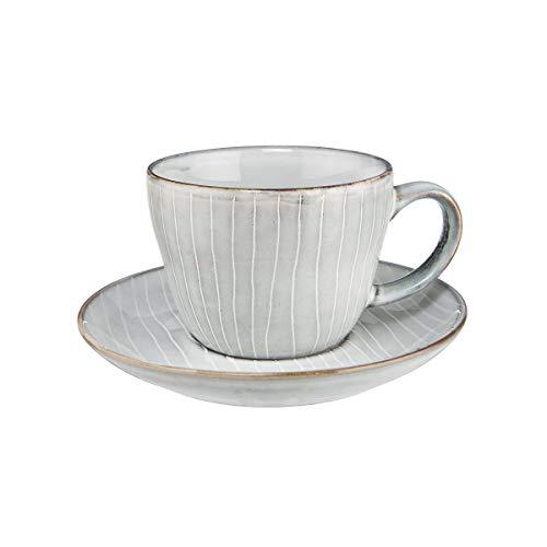 Butlers HENLEY 4x Kaffeetasse mit Untertasse 270ml