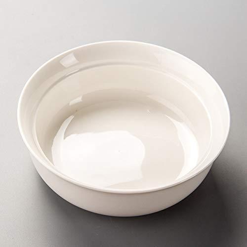 Ceramic Tea Wash Teezeremonie Tea Set Pen Wash Zubehör Große Teeschale QiuGe (Color : Chinese White)