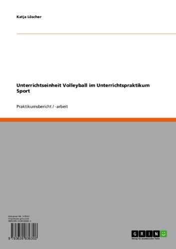 Unterrichtseinheit Volleyball im Unterrichtspraktikum Sport