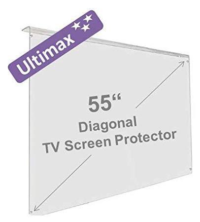 55 Pulgadas Ultimax Protector de Pantalla de la televisor - Daños y UV protección para LCD, OLED y Plasma HDTV