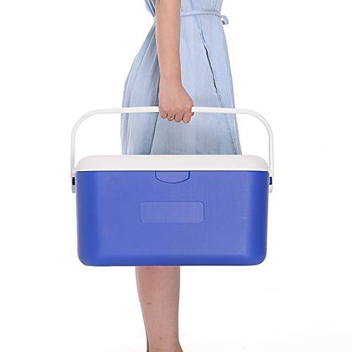 Afhaalkoelbox, draagbaar, gemakkelijk mee te nemen outdoor picknick plastic vriezer koelbox grote elektrische koelbox 51 * 30,5 * 27CM