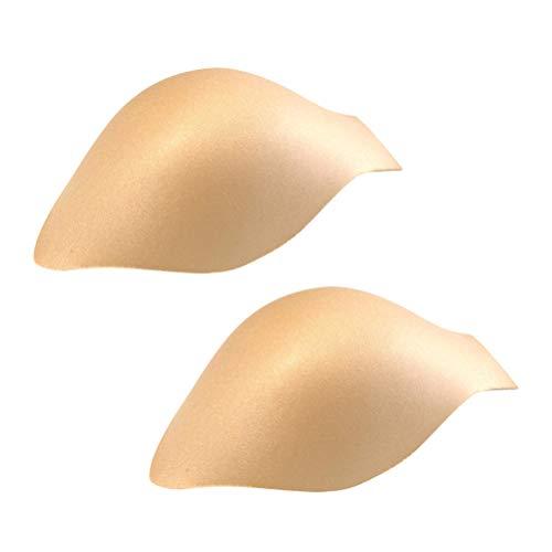 Fenical Männer Penis Pouch Pad 3D Schwimmen Stamm Verbesserung Pads für Stamm Kurze Unterwäsche (Hautfarbe) 2 stücke