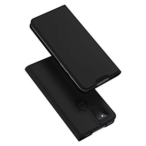 DUX DUCIS Hülle für Google Pixel 4a 5G, Leder Klappbar Handyhülle Schutzhülle Tasche Hülle mit [Kartenfach] [Standfunktion] [Magnetisch] für Google Pixel 4a 5G (Schwarz)