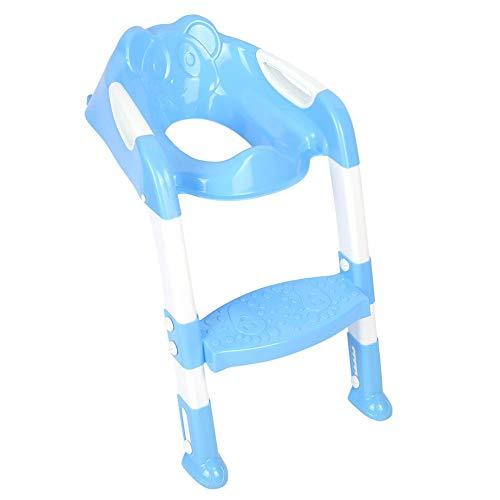lyrlody Töpfchensessel für Kleinkinder, zusammenklappbar, Kindertoilettensitz mit Leiter und Leiter für Kinder, höhenverstellbar