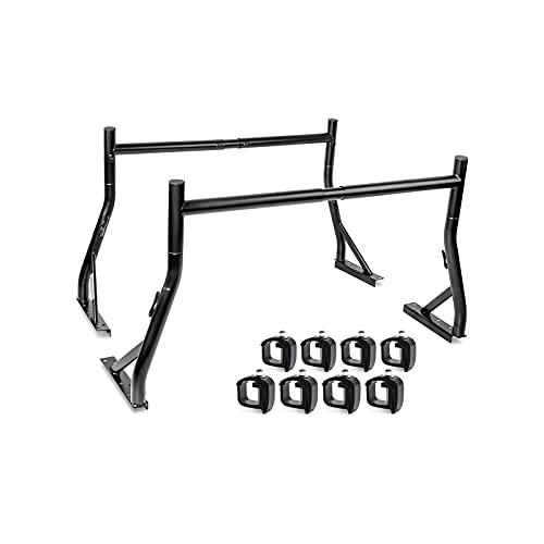 AA-Racks Non-Drilling Truck Rack, Pick-up Truck Utility Ladder Rack Matte Black (USPTO Patent Pending)