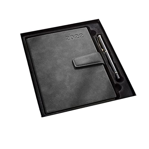 Diary 2022-2022 Diary A5 Week to View from January 2022-December 2022,8.3″x5.7″,A5 Premium Thicker Paper,Teacher Planner with Hardcover (Color : Black)