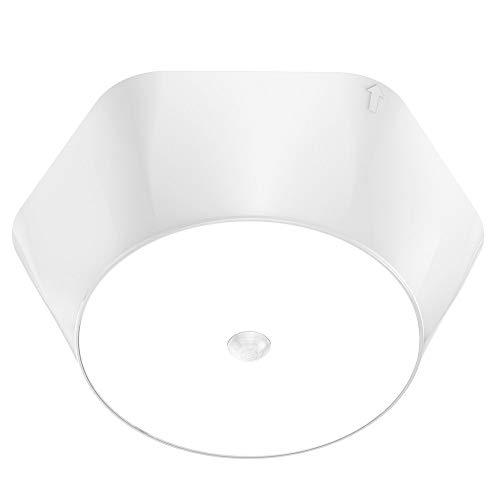 Olafus LED Deckenleuchte mit Bewegungsmelder, 800LM Batteriebetrieben Deckenlampe, LED Deckenlicht für Flur Schränke, Keller, Treppenhäuser, 5000K Tageslichtweiß