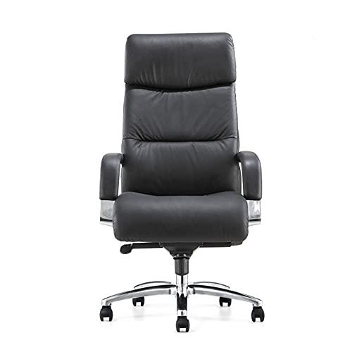 HXXXIN Boss Stuhl Bürostuhl liegend Computer Stuhl nach Hause bequem sitzend Heben Rückenlehne Licht Luxus Ledersessel