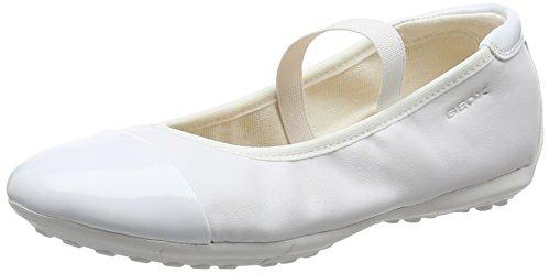 Geox Mädchen JR Piuma Ballerine C Geschlossene Ballerinas, Weiß (White), 36 EU