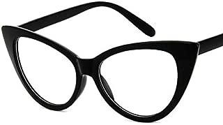 Shortsighted Glasses Womens Stylish Cat Eye Myopia Glasses Black Frame These are not reading glasses