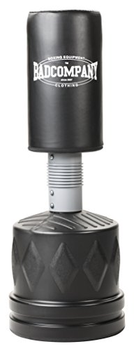 Bad Company Heavy Duty Standboxsack I Freistehender höhenverstellbarer Boxsack aus Kunstleder mit Ständer – 153-180 x 56 cm I Schwarz I BCA-70