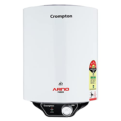 Crompton Arno Neo 10-L 5 Star Rated Storage Water Heater with Advanced 3 Level Safety (White)