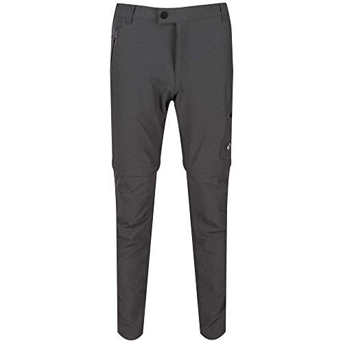 Regatta Pantalon Technique Stretch avec Jambes dézipables HIGHTON-régulier Trousers Homme, Magnet, FR : XL (Taille Fabricant : 36\
