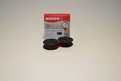 Kores 2248542 Ruban de haute qualité en nylon compatible avec Imprimante Triumph-Adler 13 mm x 10 m Noir/Rouge