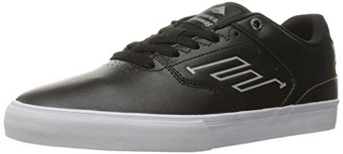 Emerica Reynolds Low Vulc Skate Schuh, Schwarz (Schwarz/Weiß/Weiß), 44.5 EU