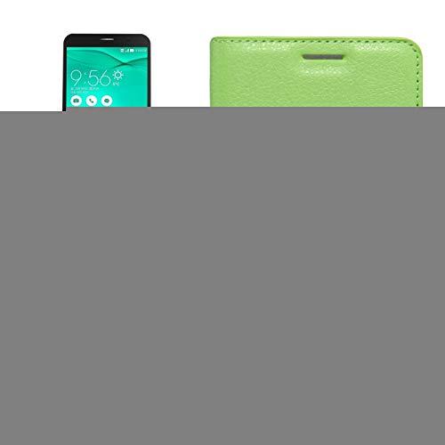 LICHONGGUI Para ASUS Zenfone Go TV / ZB551KL Funda de Cuero Genuinode Flip Horizontal de Textura de Litchi con Soporte y Ranura de Tarjetas y Billetera (Color : Green)