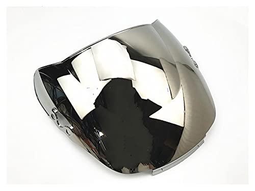 エンジン para HON-DA CBR 600 F2 1991-1994 Parabrisas Doble Burbuja Carenado Protector Delantero (Color : Chrome)
