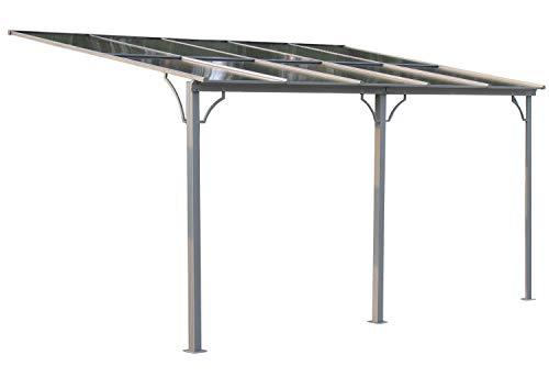 GRASEKAMP Qualität seit 1972 Terrassendach Hardtop 450x300cm Verona Doppelstegplatten Polycarbonat Hohlkammerplatte