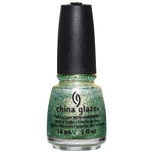 China glaze Nail Lacquer - Holo At Ya Girl! (Green/Gold Glitter), 14 ml
