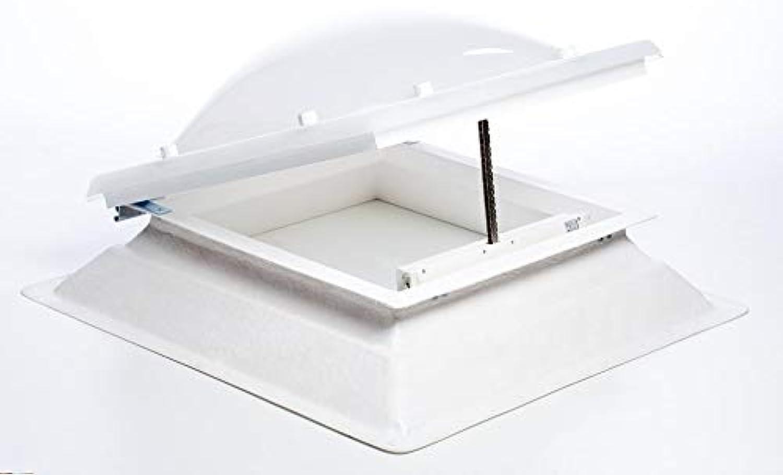 Quadratische Dachfensterffnung Monoventilschraube 60x60 Wei mit Kurbel inklusive