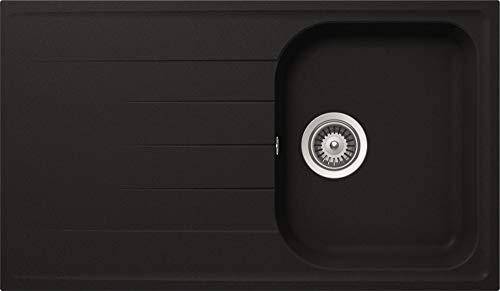 respekta by Schock Cristalite Granit Einbauspüle 1 Becken, Schwarz 50 cm Typ / Modell: ORLANDO86X50S
